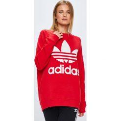 Adidas Originals - Bluza. Czerwone bluzy rozpinane damskie adidas Originals, z nadrukiem, z bawełny. W wyprzedaży za 259,90 zł.