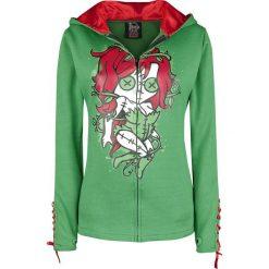 Bluzy damskie: Cupcake Cult Kiss of Death Hood Bluza z kapturem rozpinana damska zielony