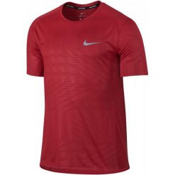 Nike Koszulka Do Biegania M Nk Dry Miler Top Ss Pr L. Czerwone koszulki do biegania męskie Nike, l, z materiału, dri-fit (nike). W wyprzedaży za 119,00 zł.