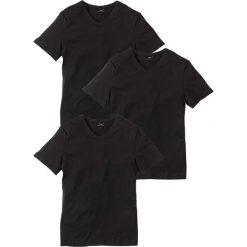 T-shirt z dekoltem w serek (3 szt.) Regular Fit bonprix 3x czarny. Czarne t-shirty męskie bonprix, l, z dekoltem w serek. Za 74,97 zł.