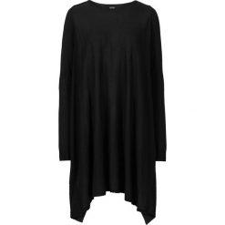 Długi sweter bonprix czarny. Niebieskie swetry klasyczne damskie marki bonprix, z nadrukiem. Za 109,99 zł.
