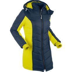 Płaszcze damskie pastelowe: Płaszcz funkcyjny pikowany bonprix ciemnoniebieski