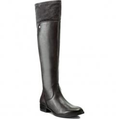 Muszkieterki CAPRICE - 9-25526-29 Dk Grey Comb 203. Szare buty zimowe damskie Caprice, z materiału, na obcasie. W wyprzedaży za 349,00 zł.