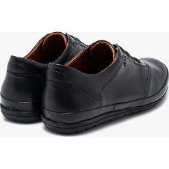Conhpol - Półbuty Conhpol Dynamic. Czarne półbuty skórzane męskie marki Conhpol, z okrągłym noskiem, na sznurówki. Za 469,90 zł.
