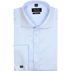 Koszula versone 2509 na spinki slim fit niebieski. Niebieskie koszule męskie na spinki Recman, l, z bawełny, z klasycznym kołnierzykiem. Za 169,00 zł.