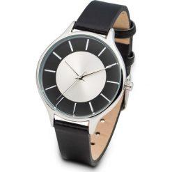 Zegarek na rękę bonprix czarno-srebrny kolor. Czarne zegarki damskie bonprix, srebrne. Za 49,99 zł.