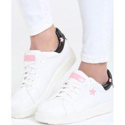 Buty sportowe damskie: Biało-Różowe Buty Sportowe Friend Of Mine