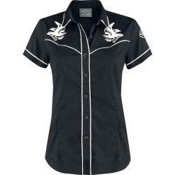 GoodYear Royce Bluzka czarny/biały. Białe bluzki z odkrytymi ramionami GoodYear, xs, z aplikacjami, z krótkim rękawem. Za 99,90 zł.
