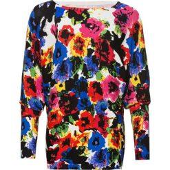 Sweter bonprix biało-czerwono-niebiesko-jasnoróżowy w kwiaty. Białe swetry klasyczne damskie bonprix. Za 109,99 zł.