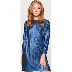 Połyskująca sukienka mini - Turkusowy. Fioletowe sukienki mini marki Reserved. Za 99,99 zł.