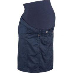 Spódnica ciążowa bojówka bonprix ciemnoniebieski. Niebieskie spódnice ciążowe bonprix, na lato, w paski, z bawełny, moda ciążowa. Za 109,99 zł.