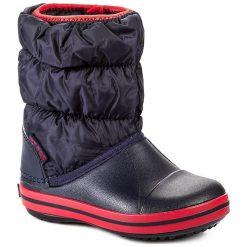 Buty zimowe chłopięce: Śniegowce CROCS – Winter Puff 14613 Navy/Red