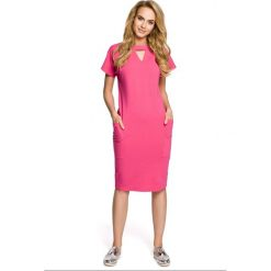 Sukienka ołówkowa ze stójką moe317. Czerwone sukienki dresowe Moe, s, ze stójką, ołówkowe. Za 119,90 zł.