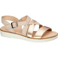 Rzymianki damskie: sandały damskie 5th Avenue złote
