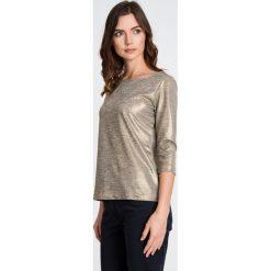 Bluzki damskie: Złota kubełkowa bluzka QUIOSQUE