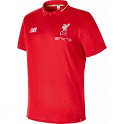 Koszulka Polo Liverpool F.C - MT831043RCR. Czerwone koszulki polo New Balance, m, z haftami, z materiału. Za 249,99 zł.