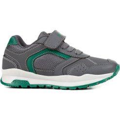 """Sneakersy """"Coridan"""" w kolorze szaro-zielonym. Niebieskie trampki chłopięce marki geox kids, z gumy. W wyprzedaży za 125,95 zł."""