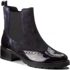 Sztyblety CAPRICE - 9-25415-21 Ocean Comb 880. Niebieskie buty zimowe damskie Caprice, z materiału. Za 379,90 zł.