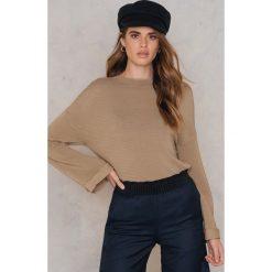 Golfy damskie: Minkpink Marszczony sweter z golfem – Beige