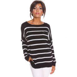 """Sweter """"Jena"""" w kolorze czarnym. Czarne swetry klasyczne damskie marki 100% Maille, s, z dekoltem w łódkę. W wyprzedaży za 108,95 zł."""