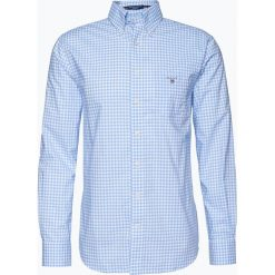 Gant - Koszula męska, niebieski. Niebieskie koszule męskie na spinki GANT, m, w kratkę, z bawełny. Za 379,95 zł.
