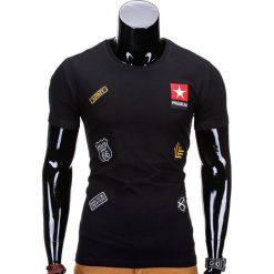 T-SHIRT MĘSKI Z NADRUKIEM S818 - CZARNY. Czarne t-shirty męskie z nadrukiem Ombre Clothing, m. Za 35,00 zł.