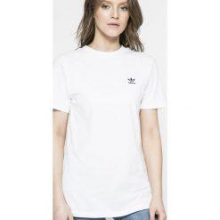 Adidas Originals - Top. Szare topy sportowe damskie adidas Originals, s, z aplikacjami, z bawełny, z okrągłym kołnierzem. Za 179,90 zł.