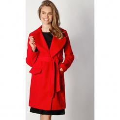 Płaszcz w kolorze czerwonym. Zielone płaszcze damskie wełniane marki Last Past Now, xs, w paski. W wyprzedaży za 279,95 zł.