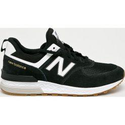 New Balance - Buty MS574FCB. Brązowe buty fitness męskie marki New Balance, z materiału, na sznurówki. W wyprzedaży za 399,90 zł.
