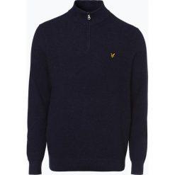 Lyle & Scott - Sweter męski, niebieski. Szare swetry klasyczne męskie marki Recman, m, z kołnierzem typu troyer. Za 449,95 zł.