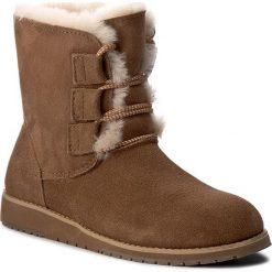 Buty EMU AUSTRALIA - Illawong W11657 Chestnut. Brązowe buty zimowe damskie EMU Australia, ze skóry, na niskim obcasie. Za 639,00 zł.
