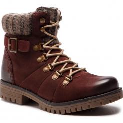 Trapery LASOCKI - WI07-A721-A588-03 Maroon. Czerwone buty zimowe damskie Lasocki, z materiału. Za 199,99 zł.