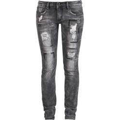 Spodnie damskie: Rock Rebel by EMP Skarlett Jeansy damskie szary