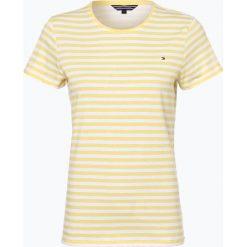 Bluzki, topy, tuniki: Tommy Hilfiger – T-shirt damski, żółty