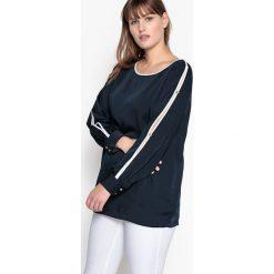 Bluzki asymetryczne: Bluzka gładka, z satyny, pęknięcia na wysokości ramion
