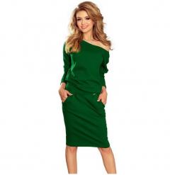 Numoco Sukienka Damska, L, Zielona. Różowe sukienki marki numoco, l, z długim rękawem, maxi, oversize. Za 189,00 zł.