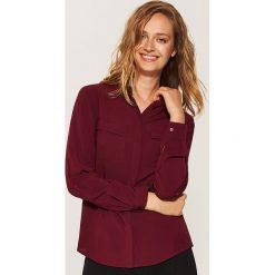 Gładka koszula - Bordowy. Czerwone koszule damskie marki House, l. Za 59,99 zł.
