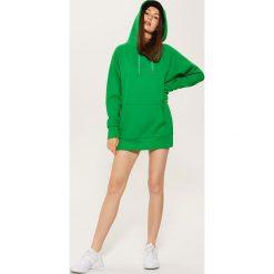 Długa bluza z kapturem - Zielony - 2