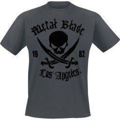 Metal Blade Pirate Logo T-Shirt szary. Szare t-shirty męskie Metal Blade, m, z napisami. Za 74,90 zł.