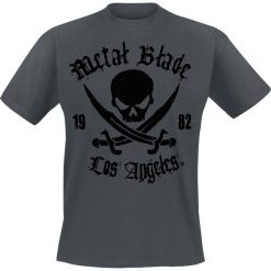 T-shirty męskie: Metal Blade Pirate Logo T-Shirt szary