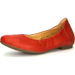 """Baleriny damskie lakierowane: Skórzane baleriny """"Balla"""" w kolorze czerwonym"""