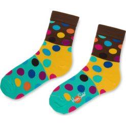 Skarpety Wysokie Unisex HAPPY SOCKS - BDB01-8000 Kolorowy. Szare skarpetki damskie Happy Socks, w kolorowe wzory, z bawełny. Za 34,90 zł.