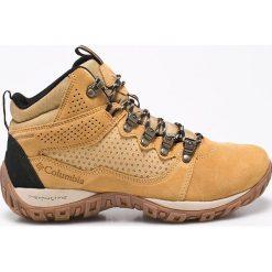 Columbia - Buty Peakfreak Ventu. Brązowe buty trekkingowe męskie Columbia, z materiału, na sznurówki, outdoorowe. Za 529,90 zł.