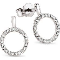 Kolczyki damskie: RABAT Białe Złoto Kolczyki – złoto białe 333, Diament 0,14ct