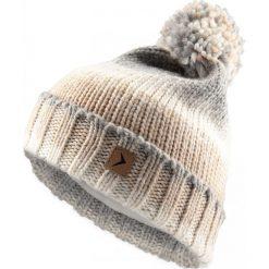 Czapka damska CAD606 - beż melanż - Outhorn. Szare czapki zimowe damskie Outhorn, na zimę, melanż, z polaru. Za 34,99 zł.