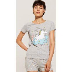 Dwuczęściowa piżama z jednorożcem - Szary. Szare piżamy damskie marki House, l. Za 49,99 zł.