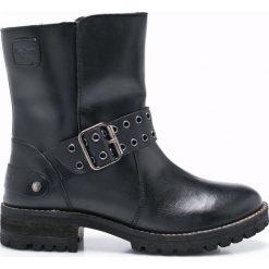Pepe Jeans - Botki. Czarne botki damskie na obcasie Pepe Jeans, z jeansu, z okrągłym noskiem. W wyprzedaży za 269,90 zł.