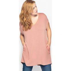 T-shirty damskie: Koszulka z dekoltem w serek z zapięciem na guziki z tyłu