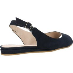 Sandały ROSITA. Niebieskie sandały damskie marki Gino Rossi, w paski, z nubiku, na płaskiej podeszwie. Za 199,90 zł.