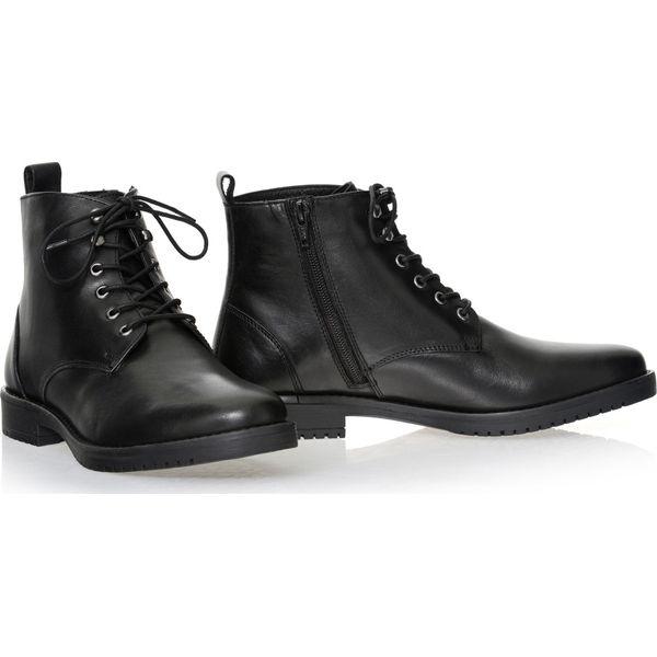 278bfa46b13ef Buty męskie - Czarne buty wizytowe męskie Ochnik
